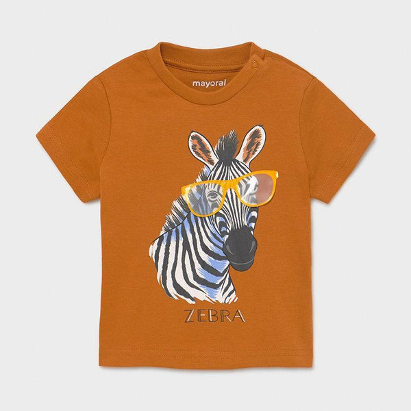 Mayoral Chandails Chandail caramel avec zèbre Caramel t-shirt with zebra
