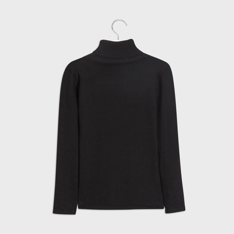 Mayoral Chandails Col roulé noir Black turtleneck