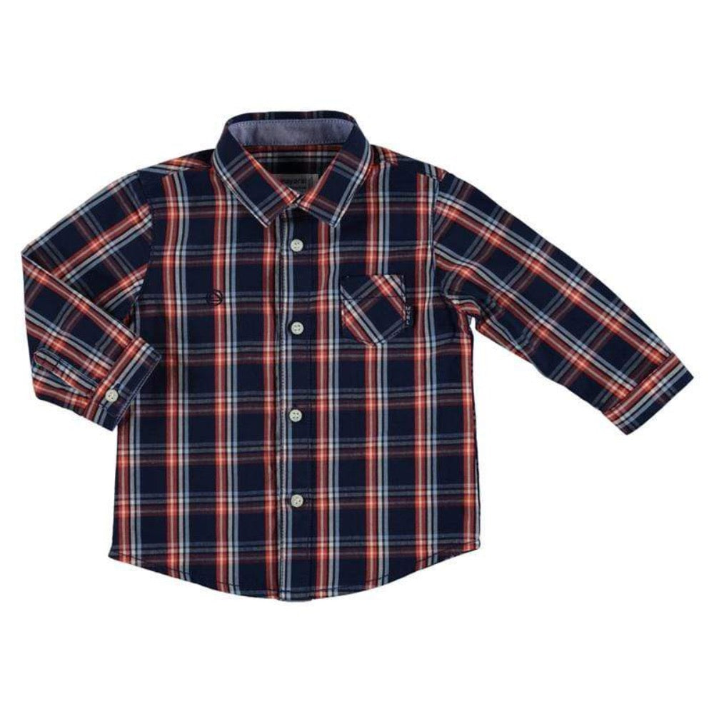 Mayoral Chemises 6M / Bleu Chemise à carreaux Check shirt