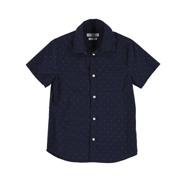 Mayoral Chemises Chemise marine à manches courtes Navy shirt with short sleeves