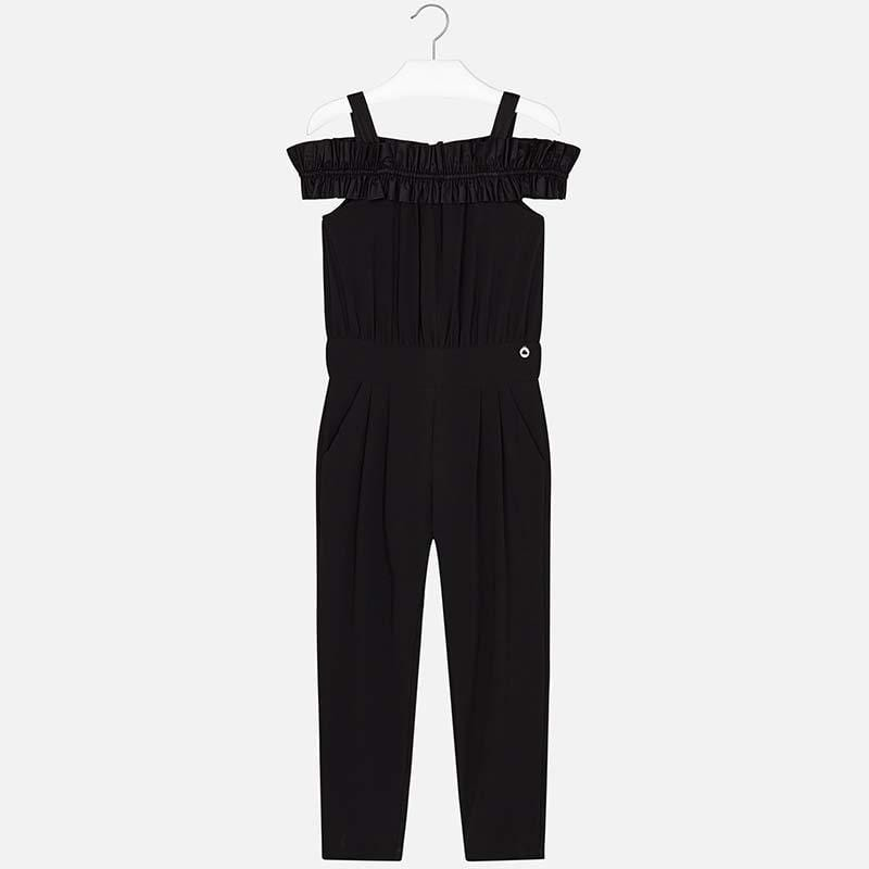 Mayoral Combinaisons 10Y Combinaison longue noire Long  Black Jumpsuit