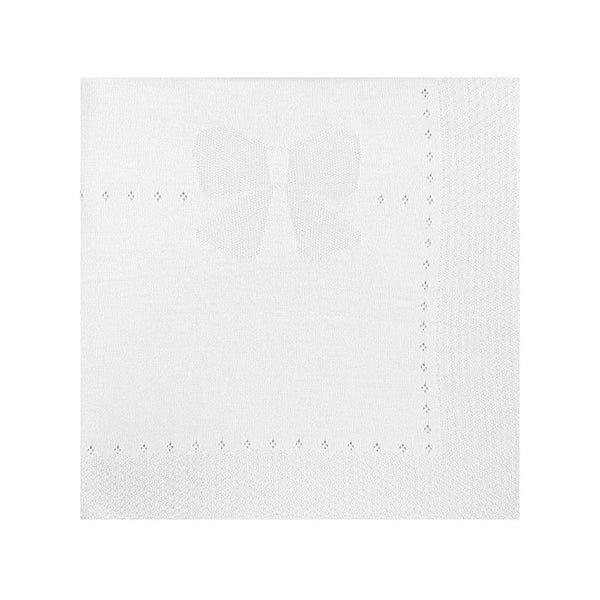 Mayoral Couvertures Blanc / O/S Couverture blanche en tricot White knit blanket