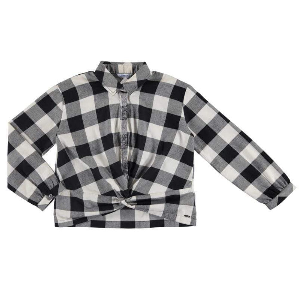 Mayoral Hauts 10Y / Noir Chemisier à noeud Knotted shirt