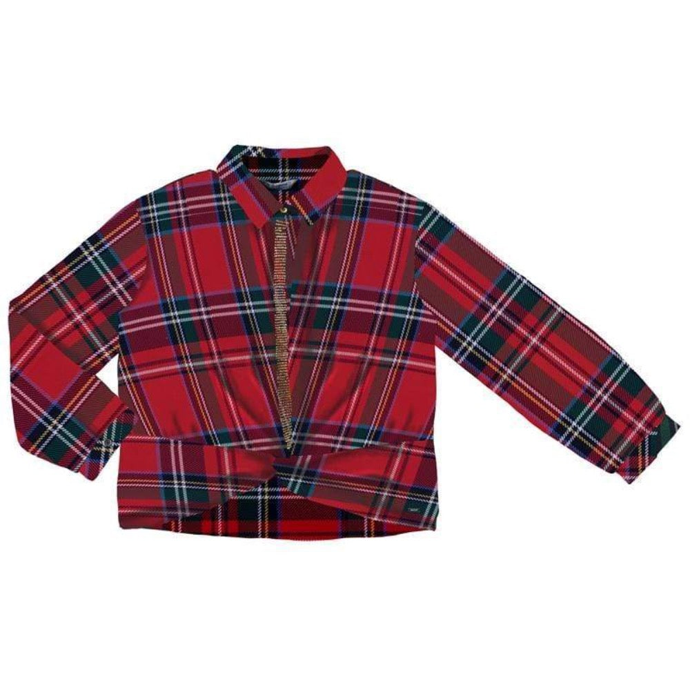Mayoral Hauts 10Y / Rouge Chemisier à noeud Knotted shirt