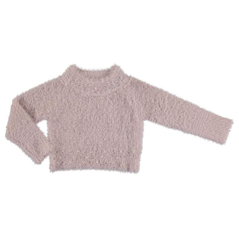 Mayoral Hauts 2Y / Rose Pull fourrure Fur pull-over
