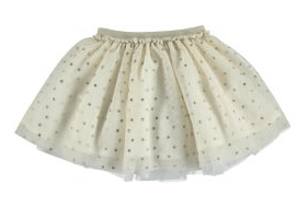 Mayoral Jupes 8Y / Beige Jupe tulle pois glitter Dotted tulle glitter skirt