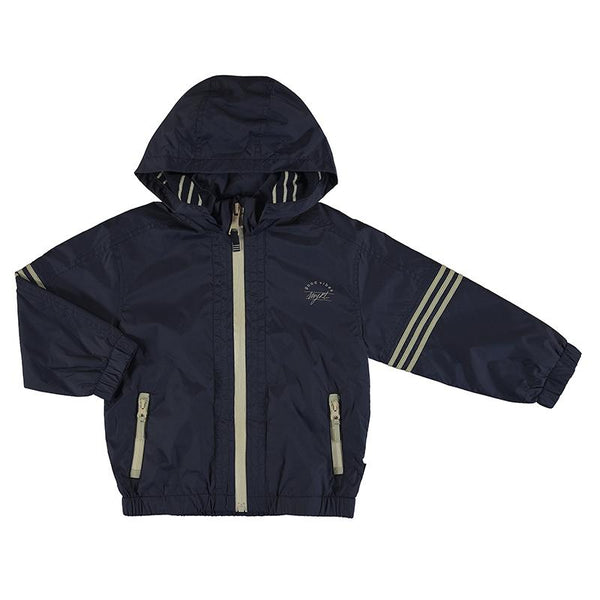 Mayoral Manteaux Coupe-vent bleu marin à rayures Striped navy blue windbreaker