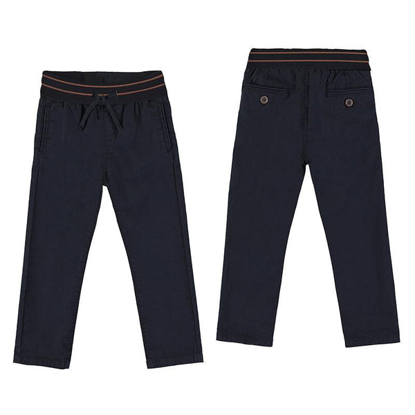 Mayoral Pantalons Pantalon chino bleu marin Navy blue chino pants