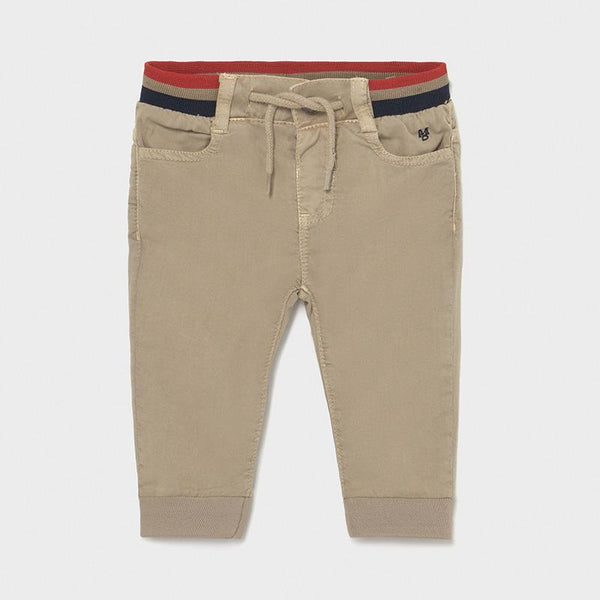 Mayoral Pantalons Pantalon en molleton beige Beige fleece pants
