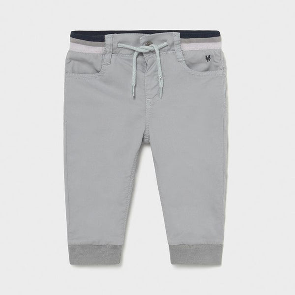 Mayoral Pantalons Pantalon en molleton gris Grey fleece pants