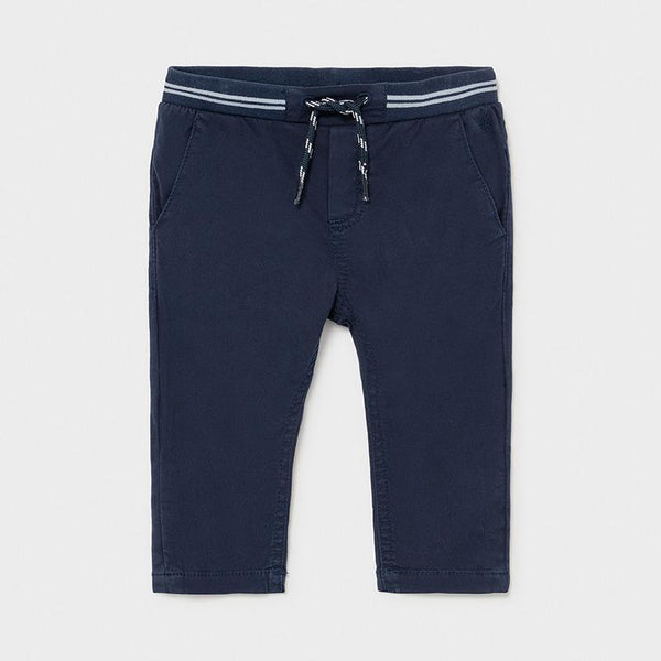 Mayoral Pantalons Pantalons bleu marin à lacet Navy blue pants with a lace