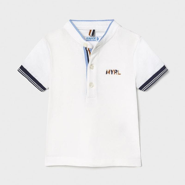 Mayoral Polos Polo blanc avec broderie Embroidered white polo