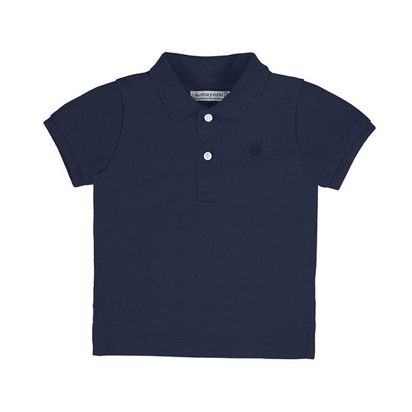 Mayoral Polos Polo bleu marin à manches courtes Navy blue short sleeve polo