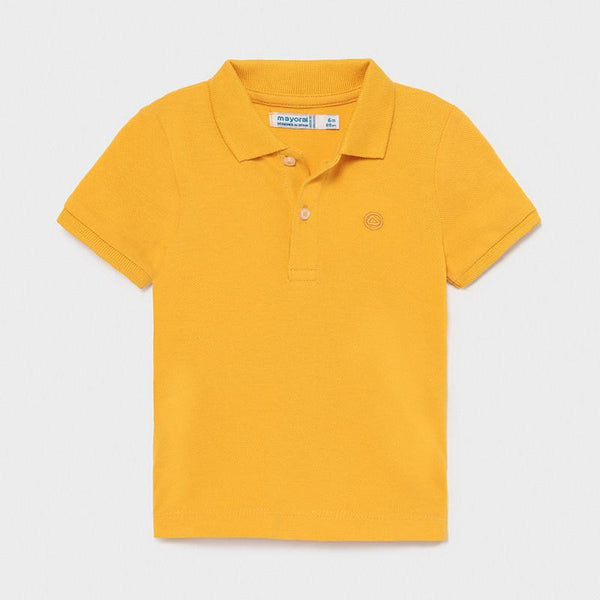 Mayoral Polos Polo jaune à manches courtes Yellow short sleeve polo