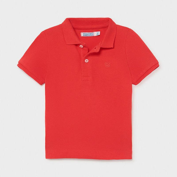 Mayoral Polos Polo rouge à manches courtes Red short sleeve polo