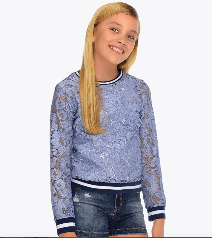 Mayoral Pulls 10Y Sweat fermé dentelle Closed lace sweatshirt