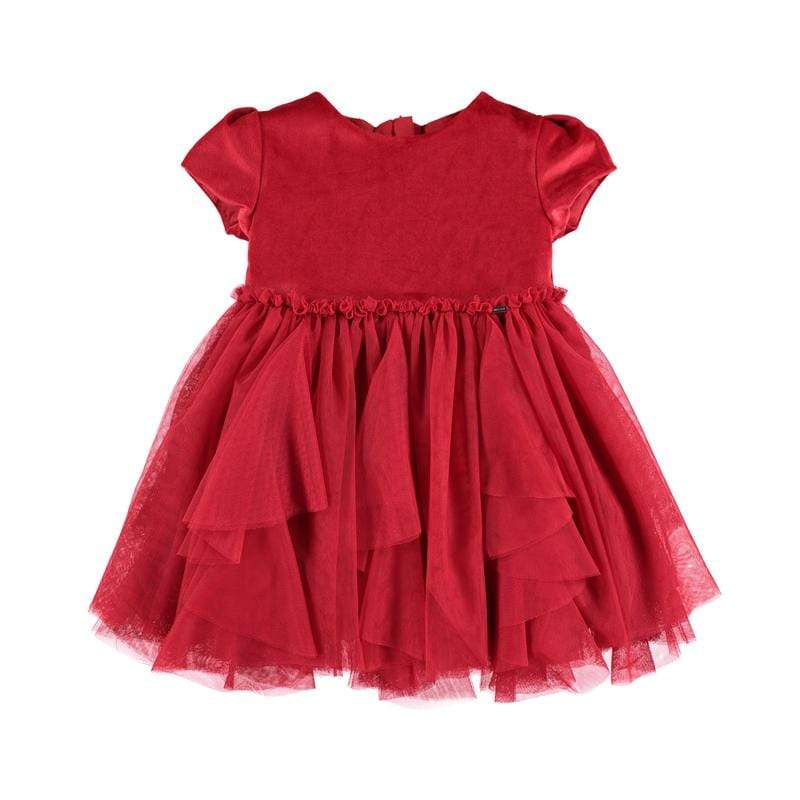 Mayoral Robes 2Y / Rouge Robe tulle rouge Red tulle dress