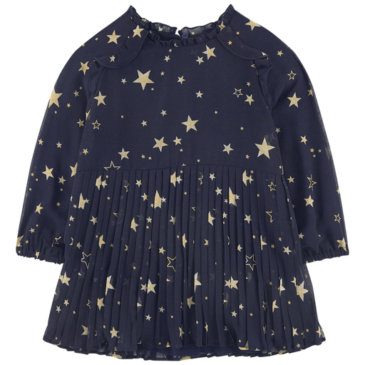 Mayoral Robes 8Y / Bleu Robe marine avec étoiles Navy dress with stars