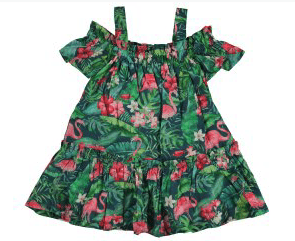 Mayoral Robes 8Y / Vert Robe flammand rose Flamingo dress