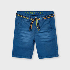 Mayoral Shorts Bermuda bleu à cordon Blue bermudas with drawstring
