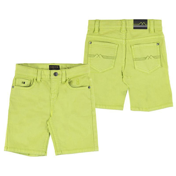 Mayoral Shorts Bermuda en denim vert Green denim bermudas