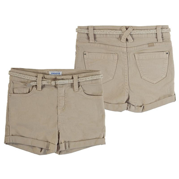 Mayoral Shorts Short beige en denim Beige denim shorts