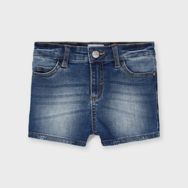 Mayoral Shorts Short en denim bleu Blue denim shorts