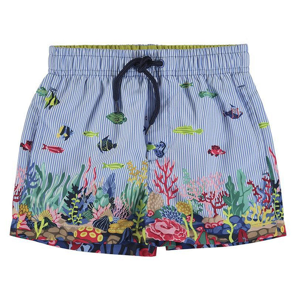 Mayoral Tenues de bain Short de bain poissons colorés Colorful fish bathing suit