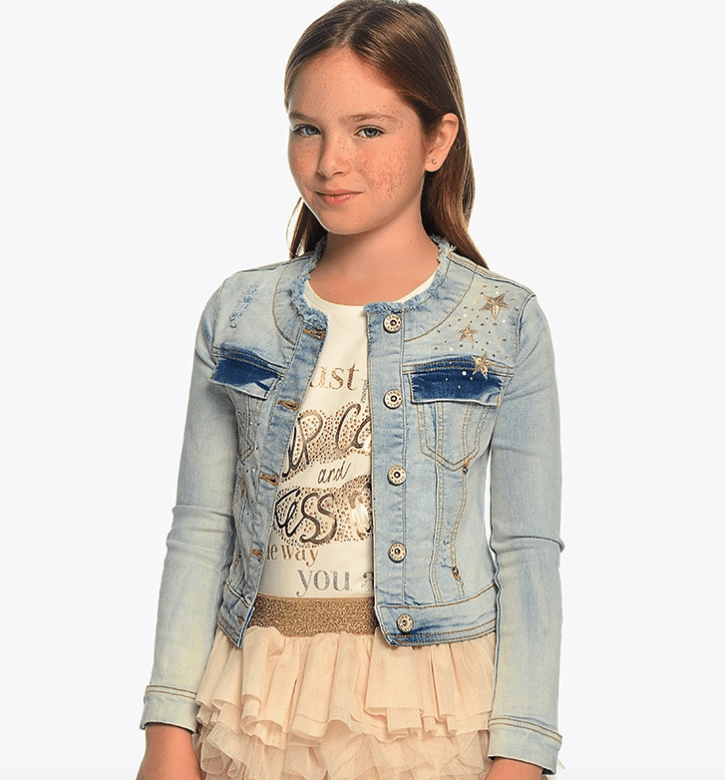 Mayoral veste 10Y Veste en jean fantaisie Fancy denim jacket