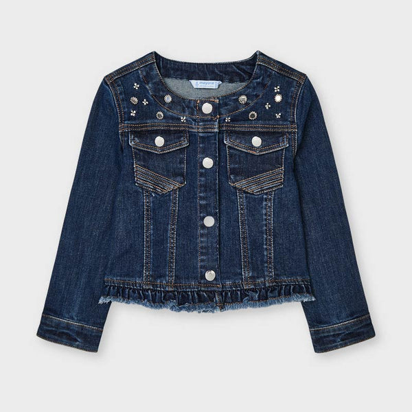 Mayoral Vestes Veste en denim bleu foncé Dark blue denim jacket