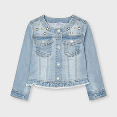Mayoral Vestes Veste en denim bleu pâle Light blue denim jacket