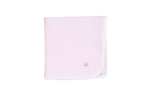 Petit Bateau Accessoires O/S / Rose Couverture rayée rose Pink striped blanket