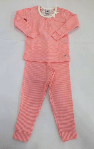 Petit Bateau Pyjamas 8Y / Rose Pyjama rayé rose et blanc Pink and white striped pyjama