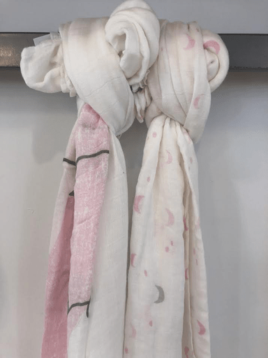 Petit Lem Accessoires O/S / Rose couverture bambou rose Bamboo Swaddle Wraps pink