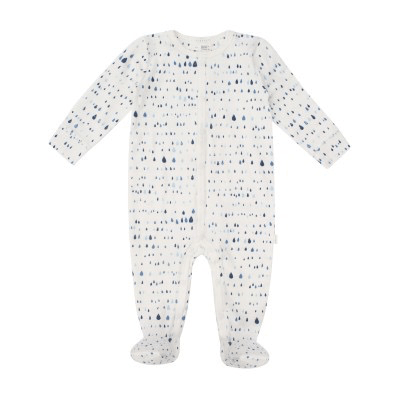 Petit Lem Pyjamas 9M / Beige Pyjama gouttes d'eau bleu Pajama patterns water drop  blue