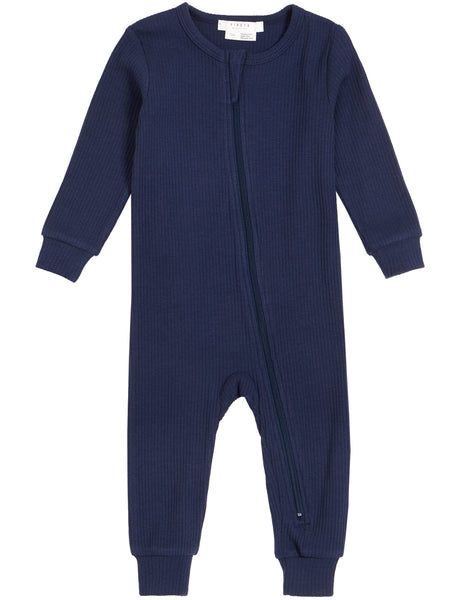 Petit Lem Pyjamas Combinaison couleur marine avec fermoir Navy Color romper with zip