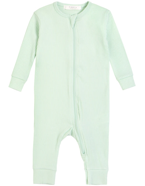Petit Lem Pyjamas Combinaison couleur verte avec fermoir Green Color romper with zip