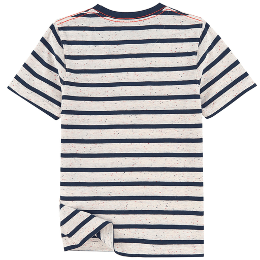 Timberland Chandails 16Y / Bleu T-shirt à rayures Stripes t-shirt