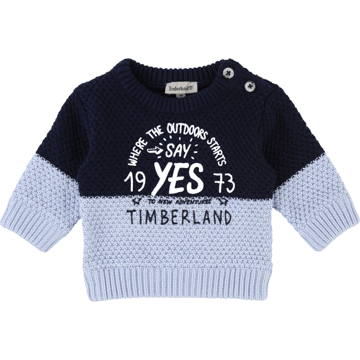 Timberland Pulls 18M / Bleu Pull bi-colore en tricot Bi-colour knitted pull