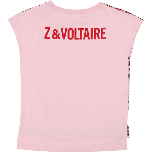 Zadig & Voltaire Chandails 16Y / Rose Chandail imprimé All-over printed T-shirt