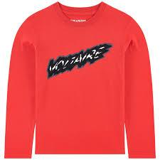 Zadig & Voltaire Chandails Chandail rouge Red t-shirt