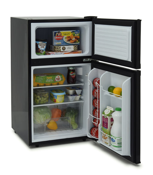 Iceking IK2023K 48cm A+ Undercounter Fridge Freezer in Black