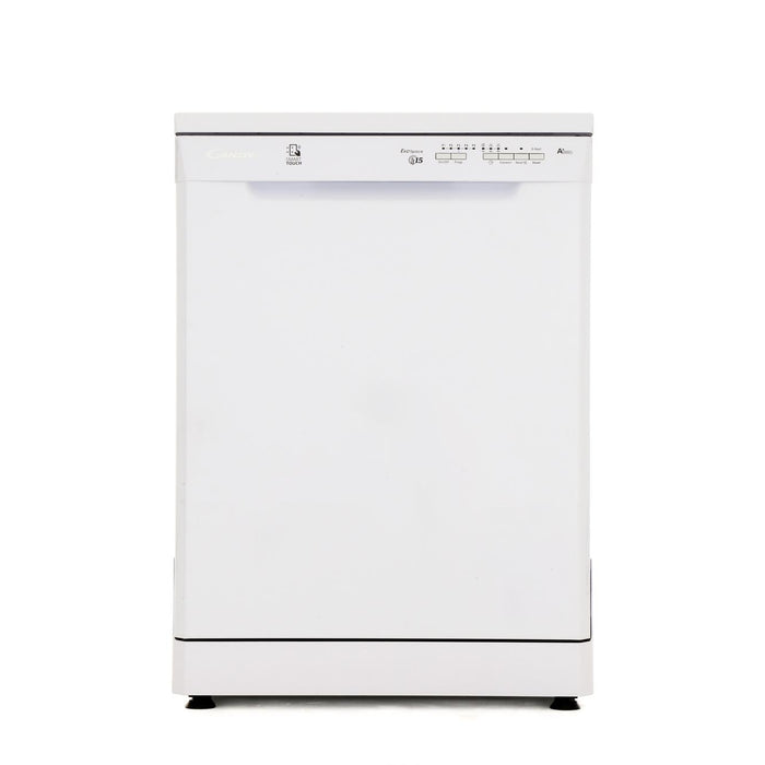 Candy CDP1LS57W Fullsize A+ 15 Place Settings Dishwasher in White