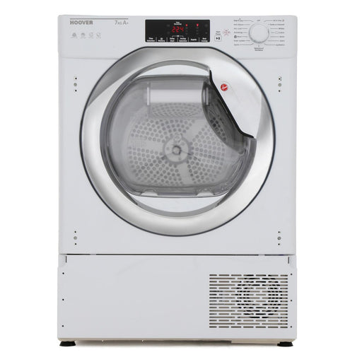 Hoover HBTDWH7A1TCE Integrated 7kg A+ Heat Pump Tumble Dryer in White