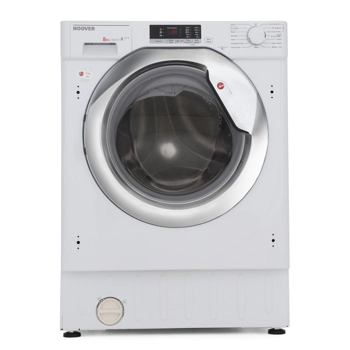 Hoover HBWM814SAC-80 Integrated 8kg 1400 Spin A+++ Washing Machine in White