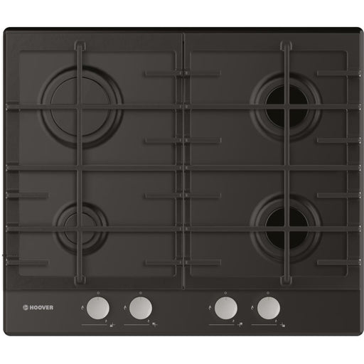 Hoover HHG6BRMB 60cm 4 Burner Gas Hob in Black