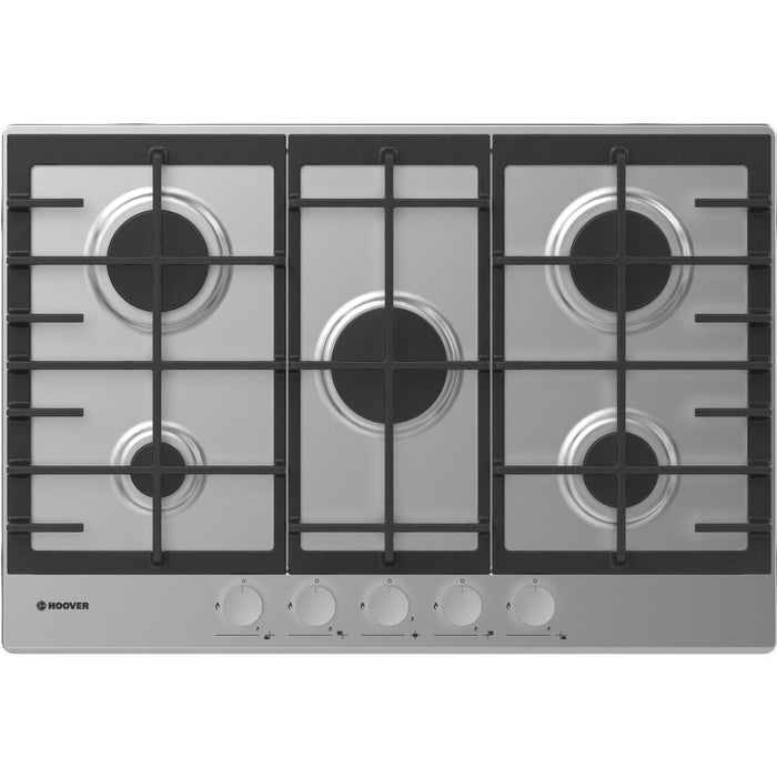 Hoover HHG7MX 75cm 5 Burner Gas Hob in Stainless Steel