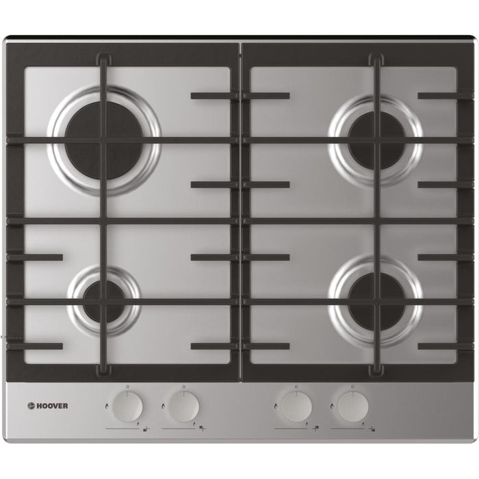 Hoover HHW6BRMX 60cm 4 Burner Gas Hob in Stainless Steel