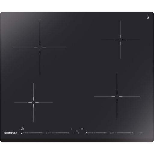 Hoover HIS4BC 60cm 4 Zone Induction Hob in Black Glass