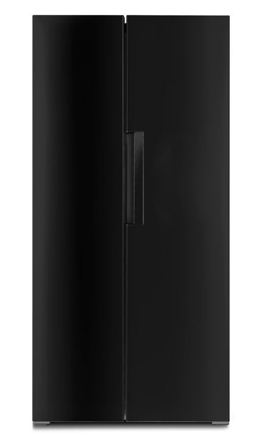 Iceking IK436K.E American Style Fridge Freezer in Black